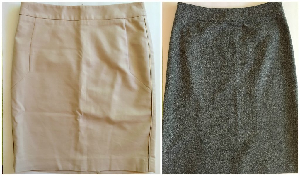 tan linen skirt black tweed skirt