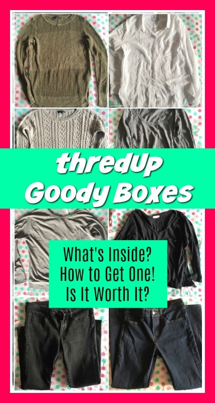 ThredUp Goody Box Review. These are the clothes that were inside my Goody Box, a curated box of secondhand clothing sent to me.