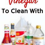 bottles of vinegar used for cleaning