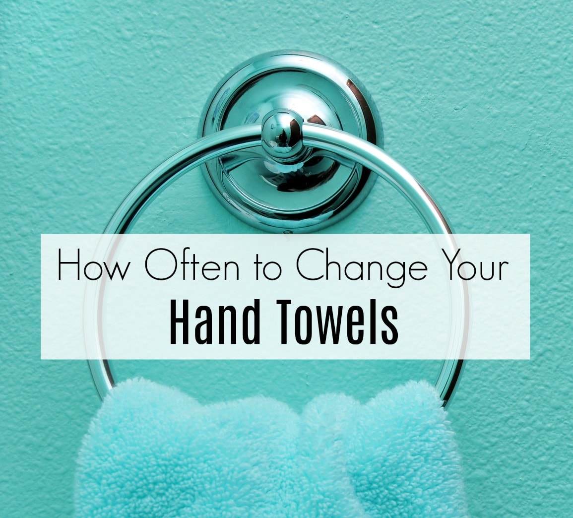 How often should i change hand towels get green be well for How often should you use the bathroom