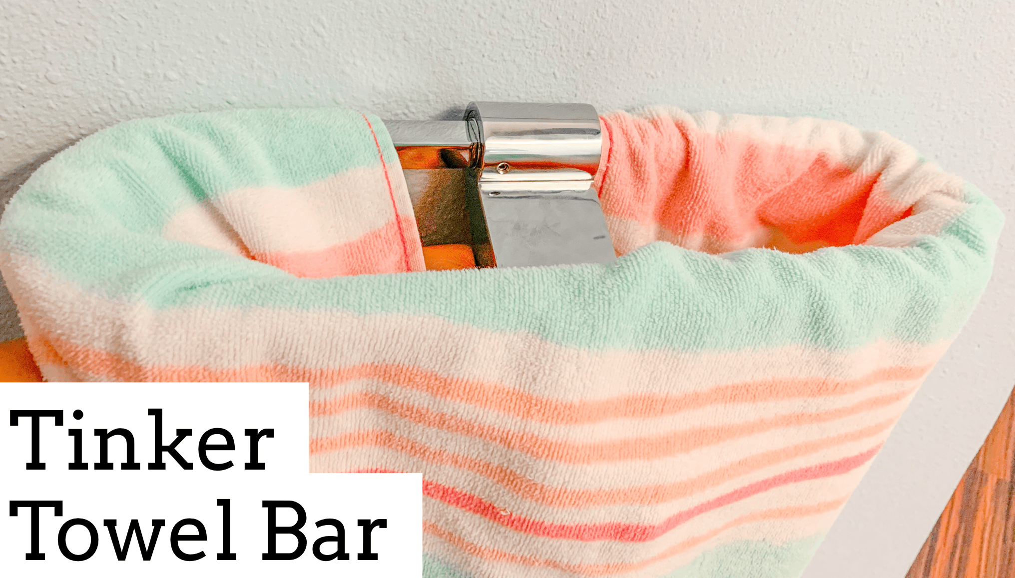 b590810570b Tinker Towel Bar is a genius oval design that lets the entire towel dry out  quickly.