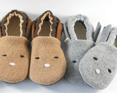 Wool bunny slippers
