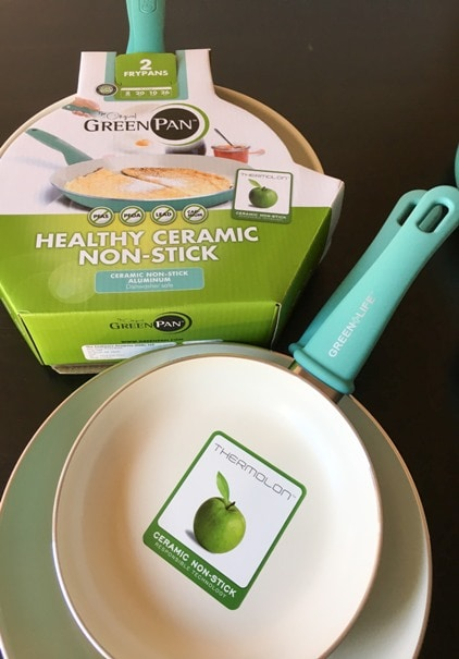 Greenpan And Greenlife Nonstick Ceramic Cookware Sets In Teal Color