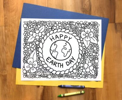 Earth Day Coloring Sheet Free Printable