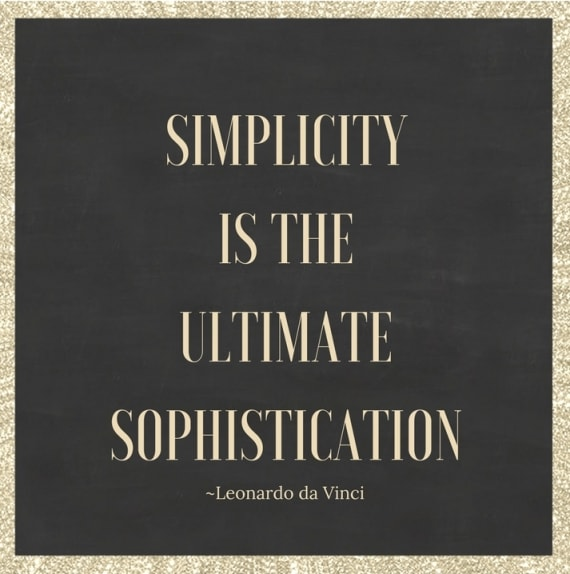 simplicity is the ultimate sophistication leonardo da vinci quote free minimalism printable