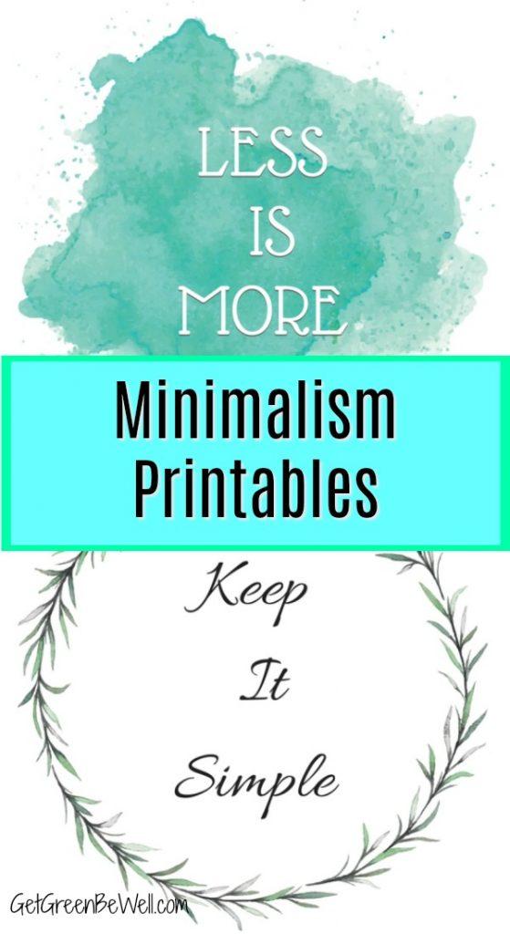 free minimalism printables