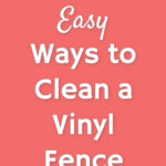 how to clean a PVC fence