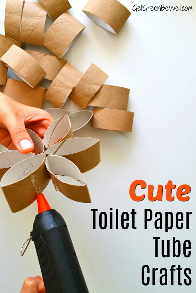 Toilet Paper Tube Crafts Gluing Cardboard Rolls together