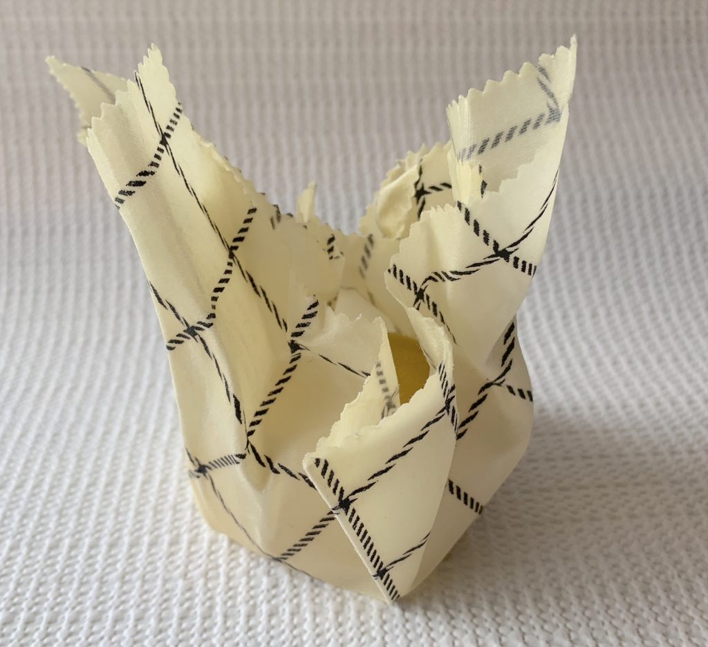 lemon wrapped in beeswax wrap plastic free