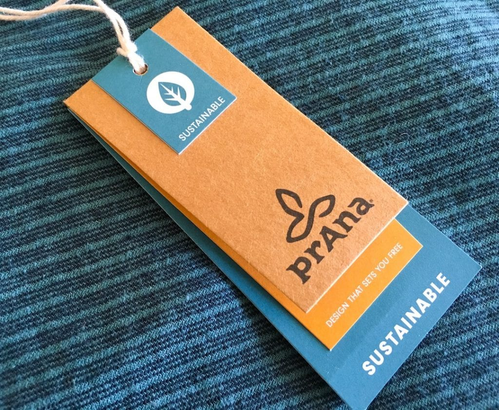 prana Paulina organic cotton dress tags balsam blue color