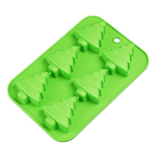 Efivs Arts 6 Christmas Tree Silicone Cake Baking Mold Cake Pan Handmade Soap Moulds Biscuit Chocolate Ice Cube Tray DIY Mold 10""