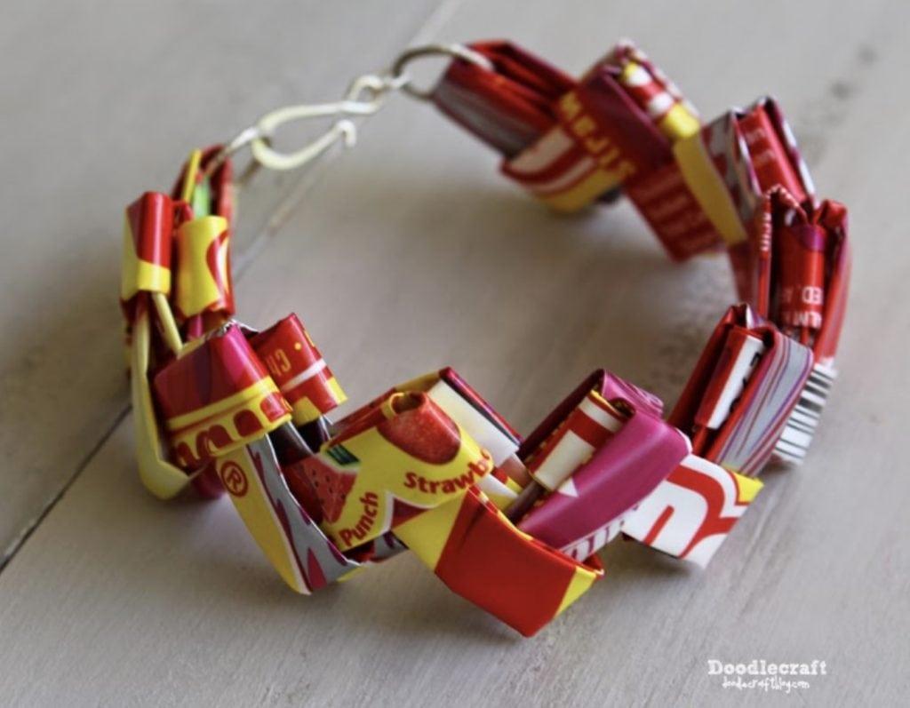 candy wrapper crafts bracelet