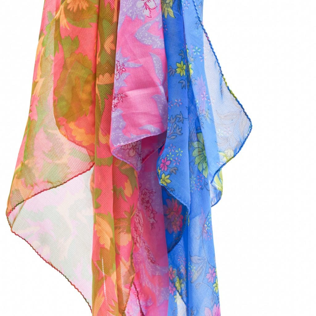 bright colorful saris in GlobeIn November Subscription Box