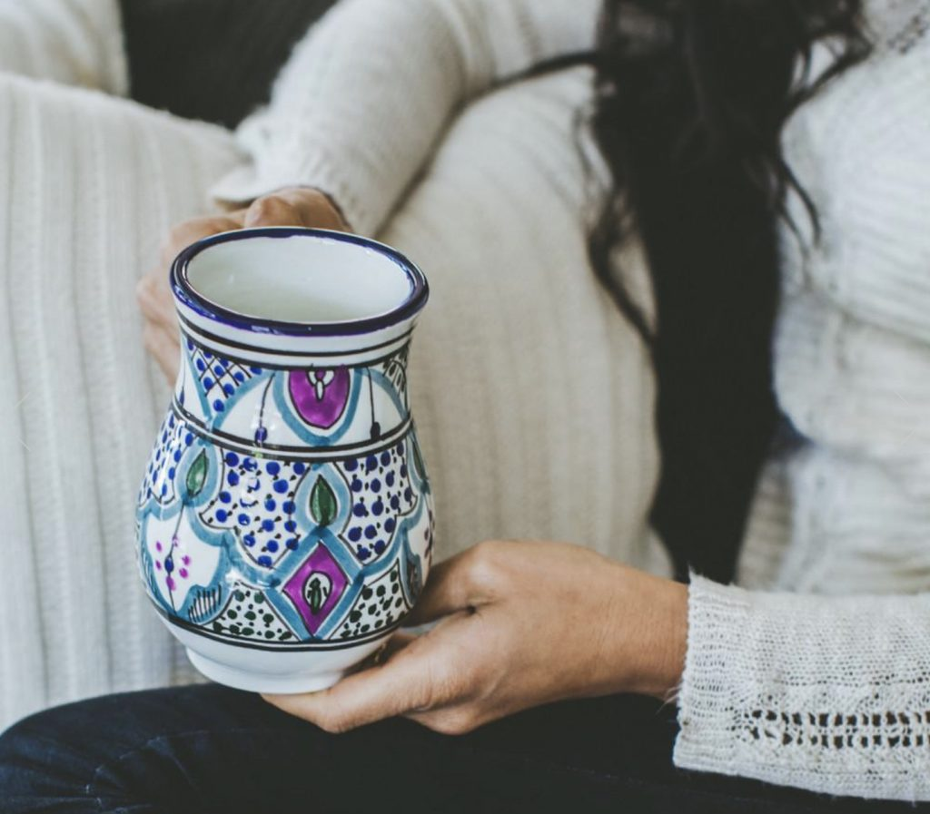 hand painted mug from GlobeIn Monthly Subscription Box