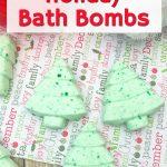 Holiday Bath Bombs Christmas Tree Shapes