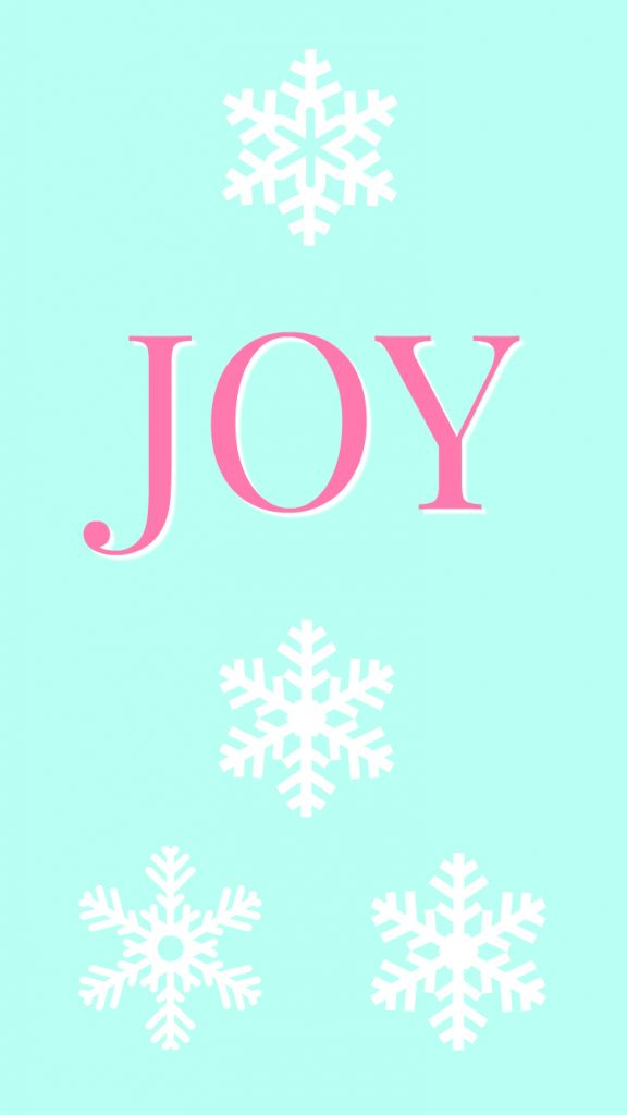 joy minimalist Christmas phone wallpaper download free