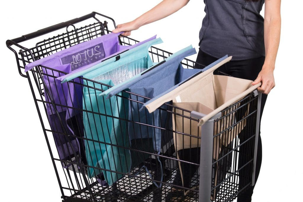 Lotus Trolley Bag Reusable Bags in Shopping Cart