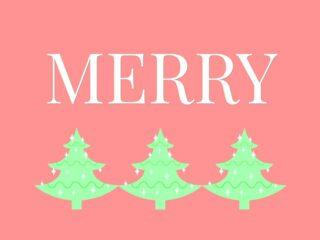 Merry Christmas Printable with Christmas trees