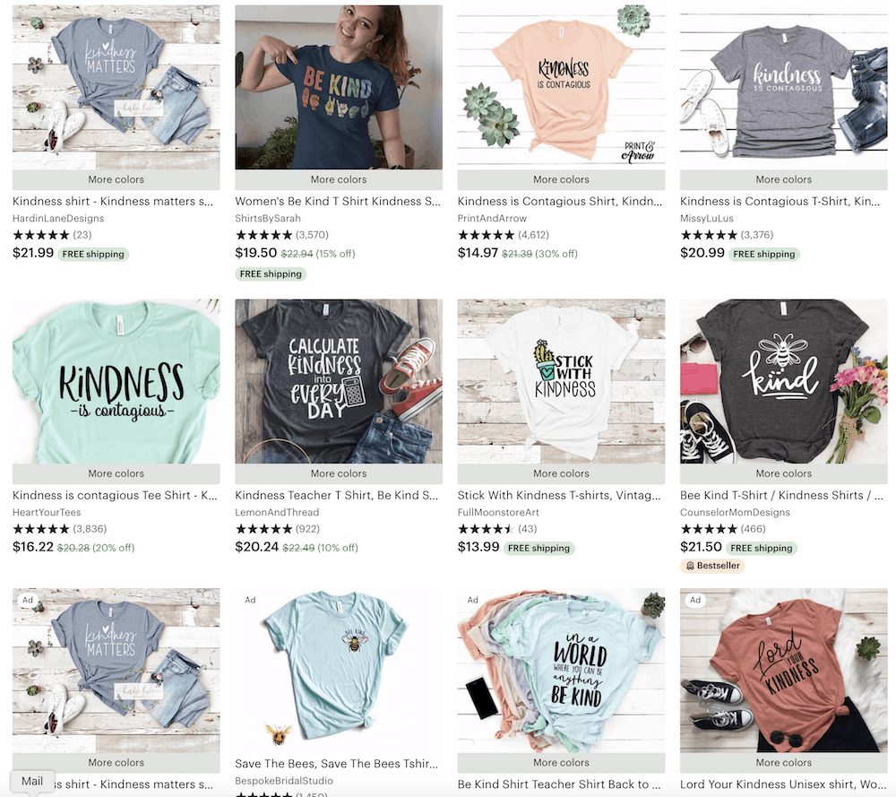 kindness t-shirts