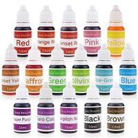 16 Colors Liquid Soap Dye Kit Food Grade Skin Safe, Vegan, Gluten-Free - Liquid Bath Bombs Colorant Set with bonus Best Soap Making Supplies