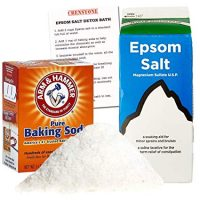 Epsom Salt Detox Bath Kit -- 2 Lbs Epsom Salt, 1 Lb Arm & Hammer Baking Soda, Detox Bath Soak Guide