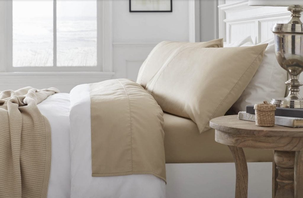 Grund America Organic Cotton Bed Sheets Savannah Collection driftwood color