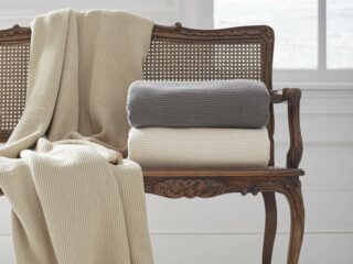 Grund America Organic Cotton Throw Blankets Collection driftwood ivory slate gray