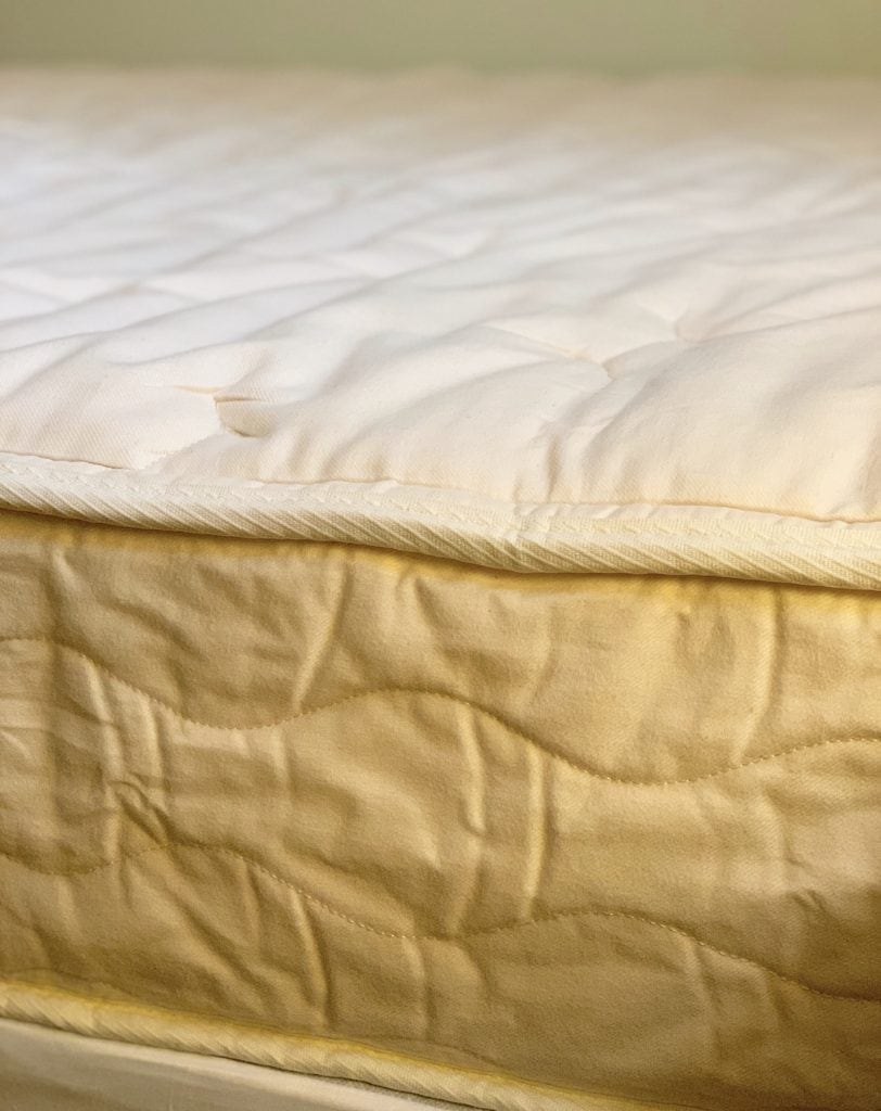 edge of joybed all natural mattress