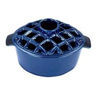 2.2 qt Enamel Woodstove Steamer - Lattice Top