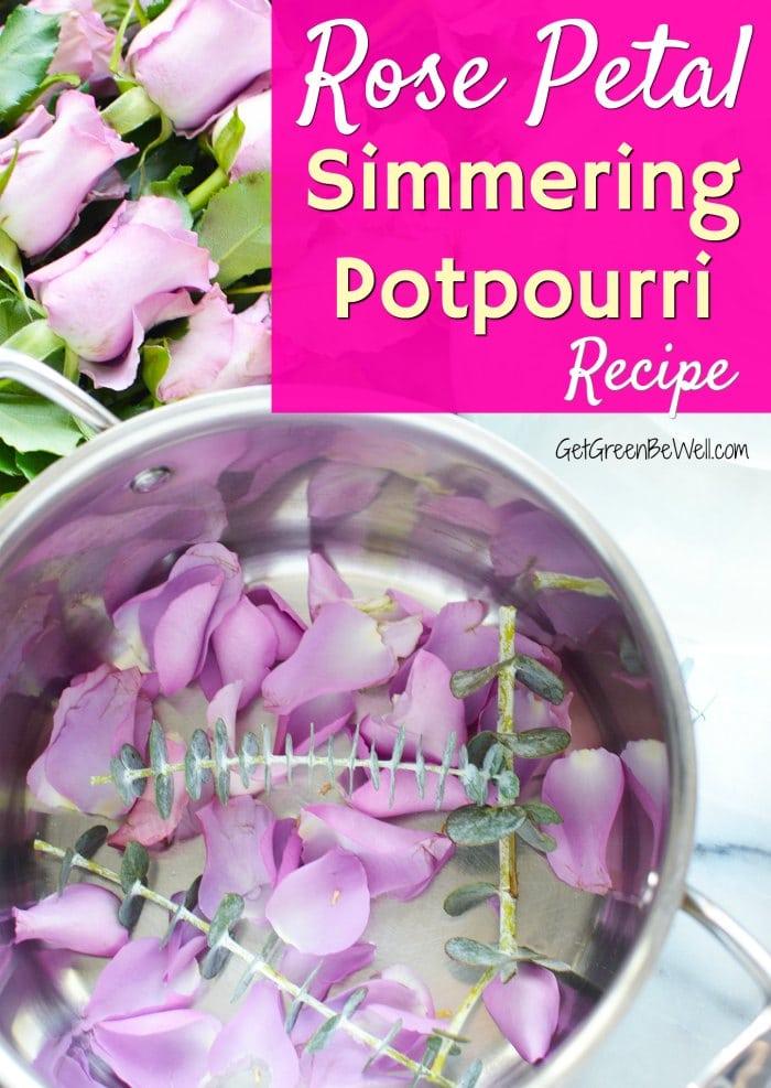 simmering potpourri simmer pot full of rose petals eucalyptus leaves natural air freshener