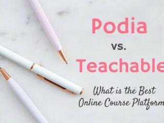 podia vs teachable online course platform review