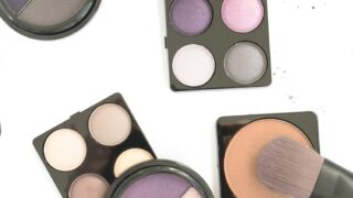 eyeshadow palettes against white background