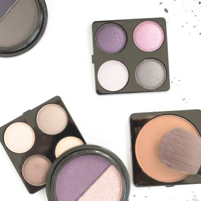 eyeshadow palettes against white background