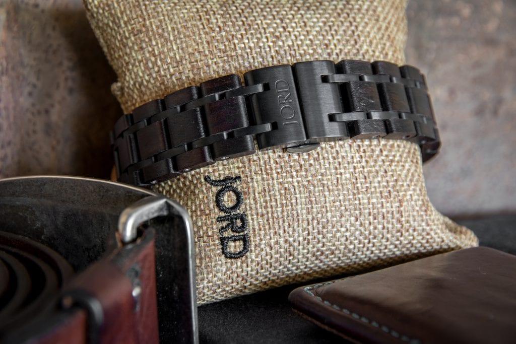 Jord Wood Watch Ebony Iron Watchband