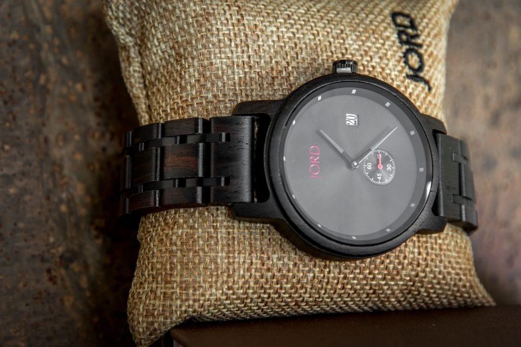 JORD Wood Watch Review Hyde Ebony Iron watch face