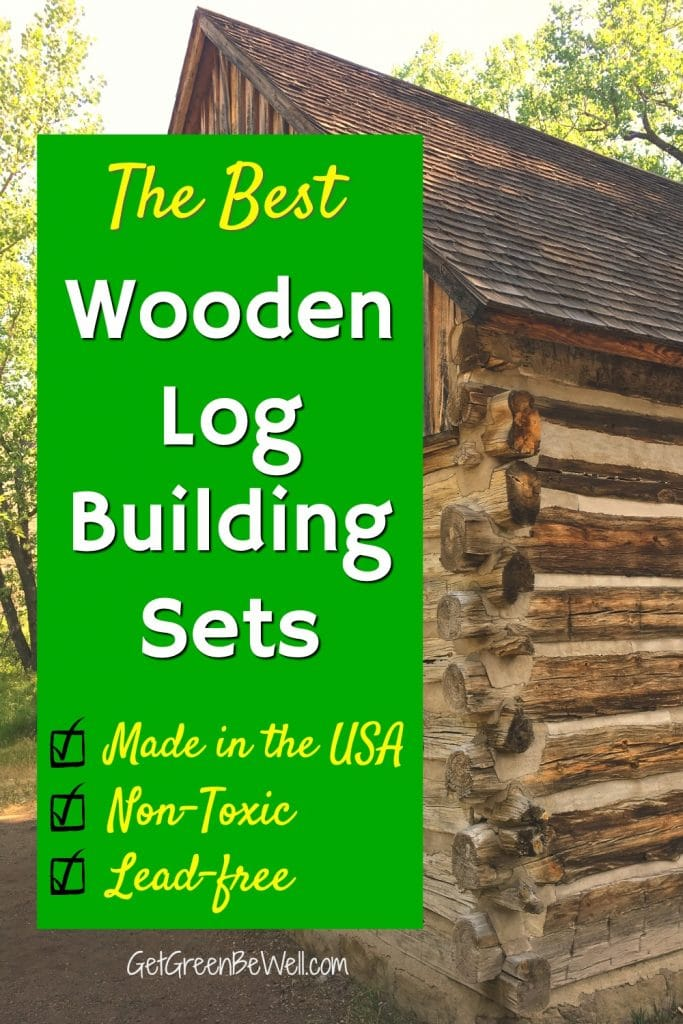 wooden log cabin lincoln logs toys