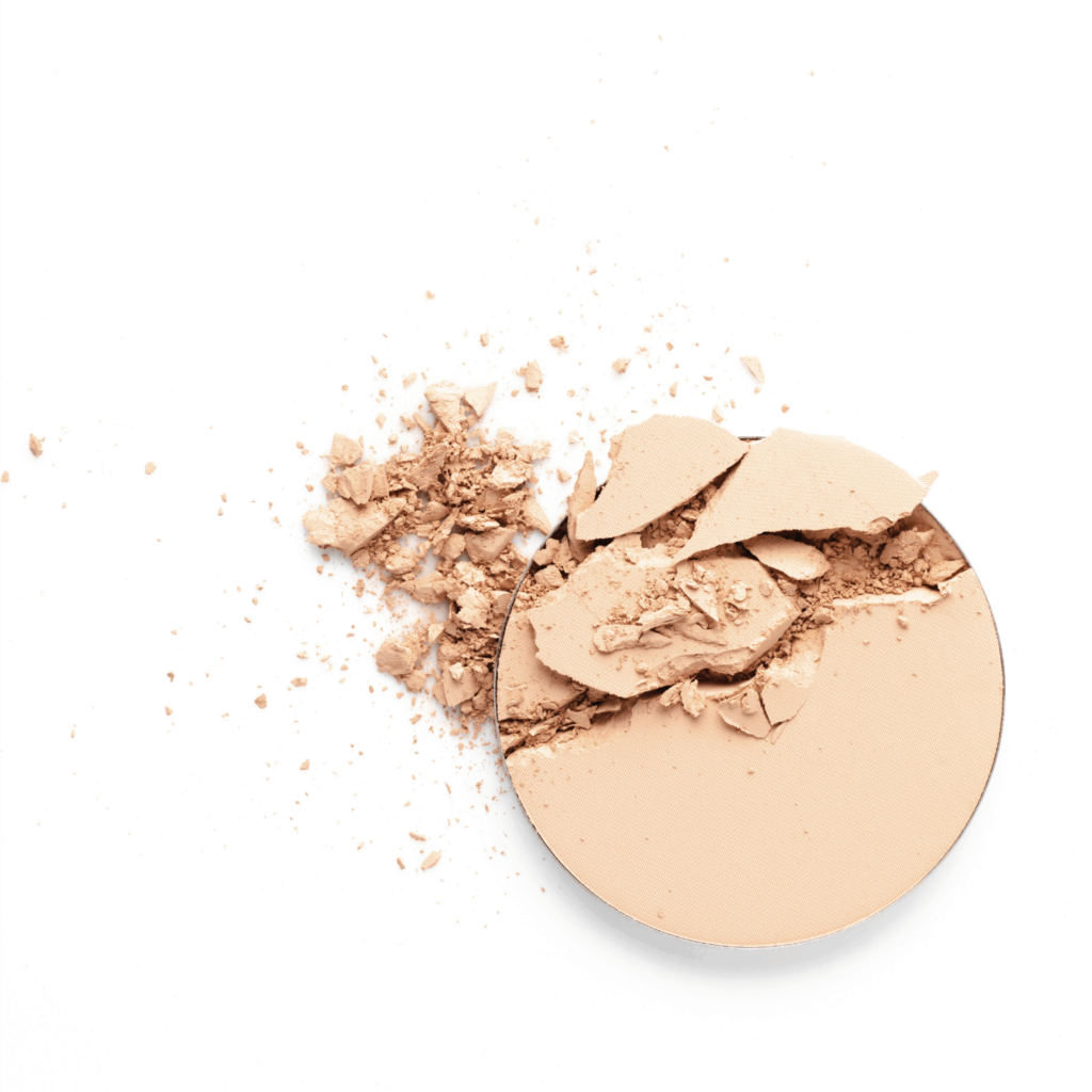 powder foundation on white background