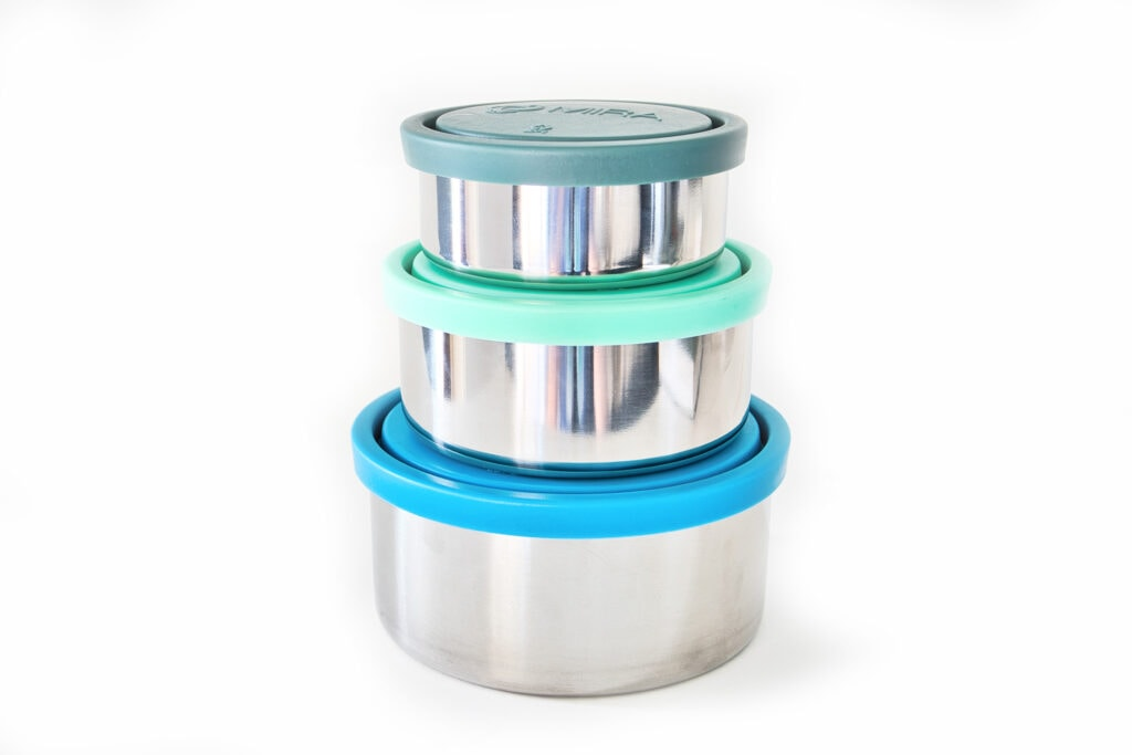 MIRA stainless steel nesting bowls food containers