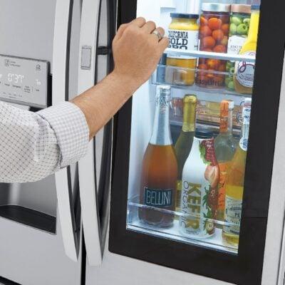 LG InstaView Door-in-Door Refrigerator with Craft Ice Feature!