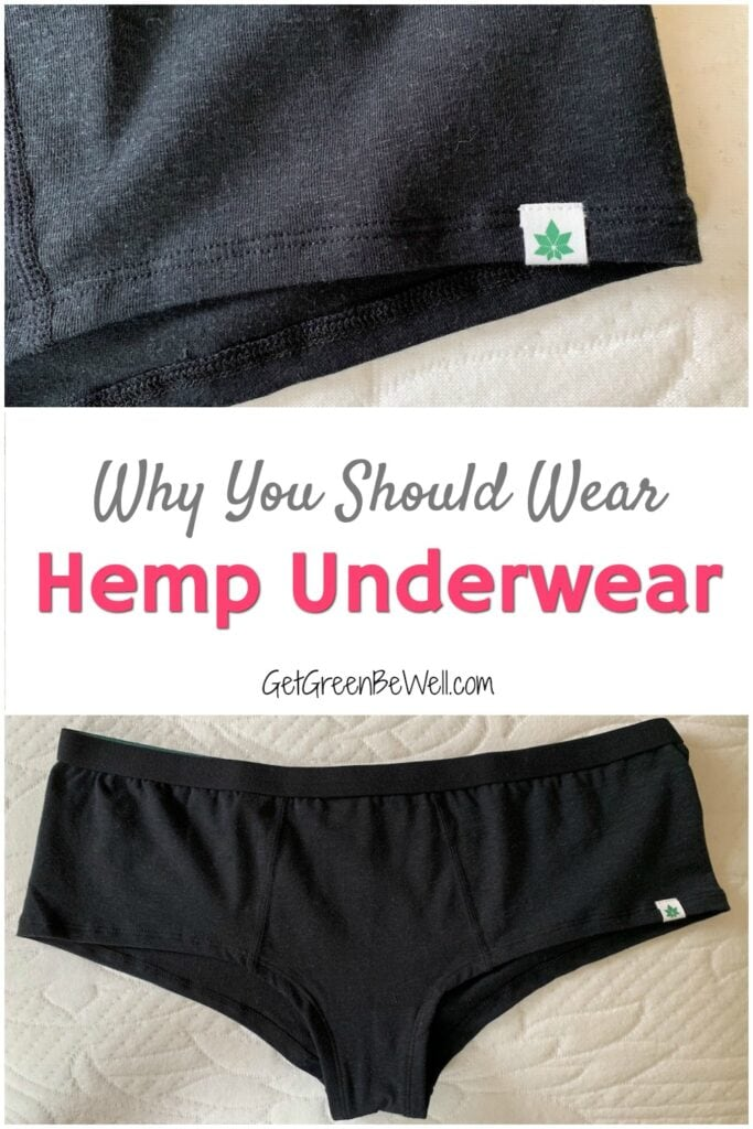 black hemp underwear womens