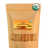 "Organic Ceylon cinnamon sticks 3"" (1 oz), True Cinnamon, Premium Grade, Harvested & Packed from a USDA Certified Organic Farm in Sri Lanka (1 oz)"