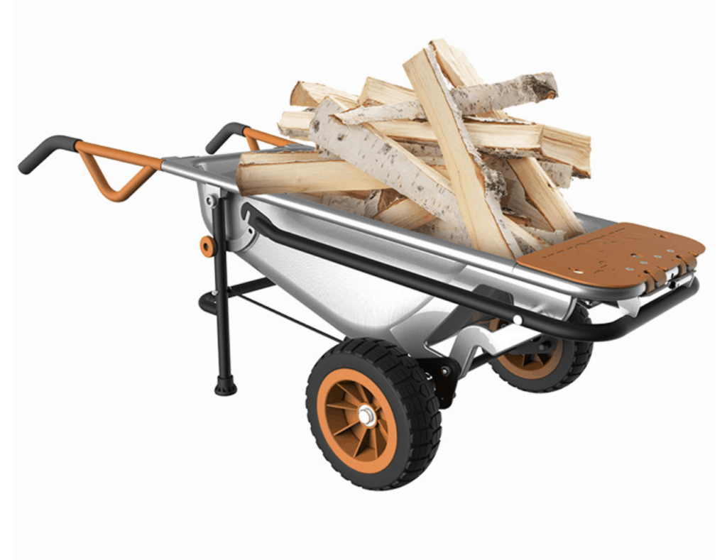 WORX Aerocart firewood hauling