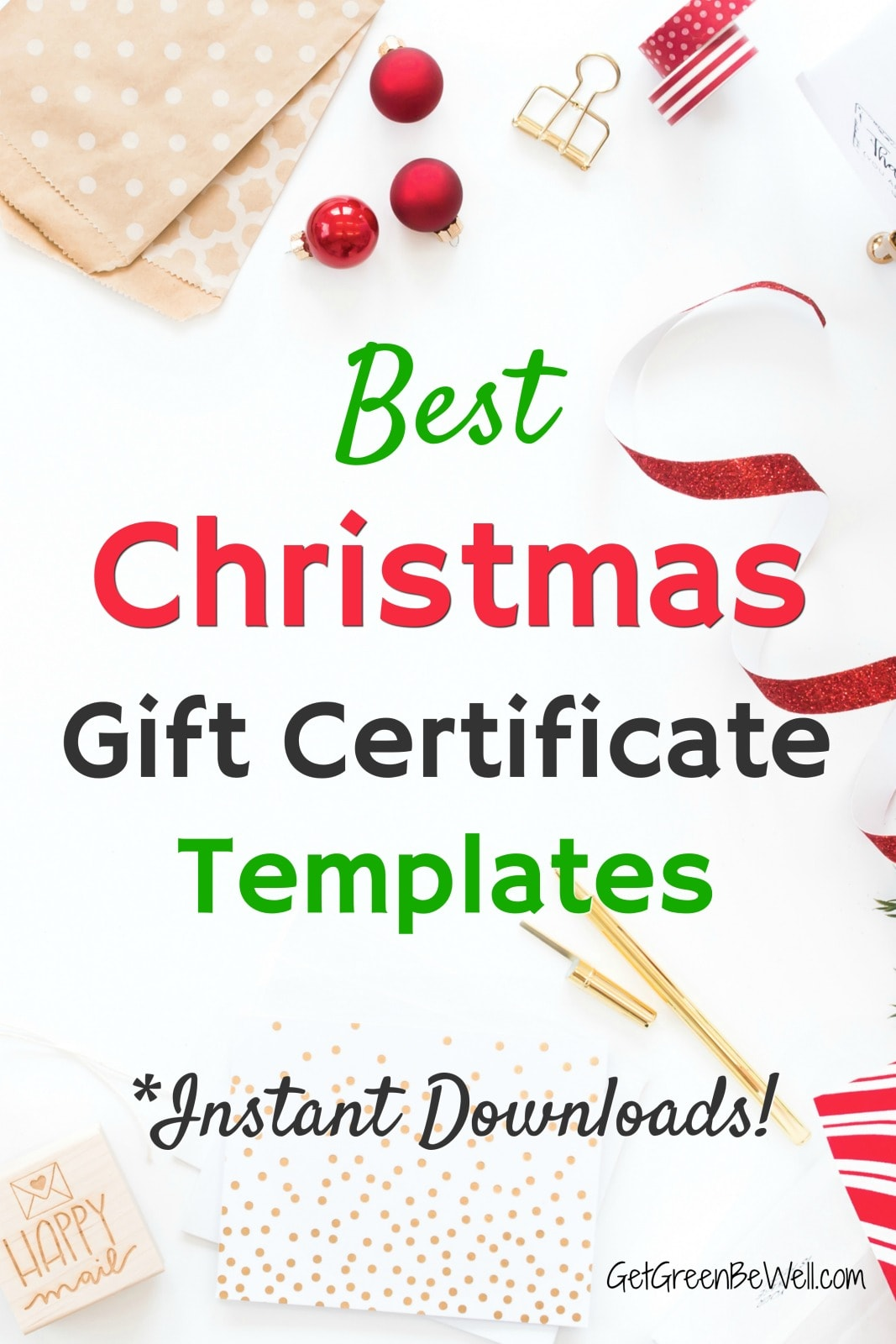 Best Christmas Gift Certificate Template Downloads 30   Get ...