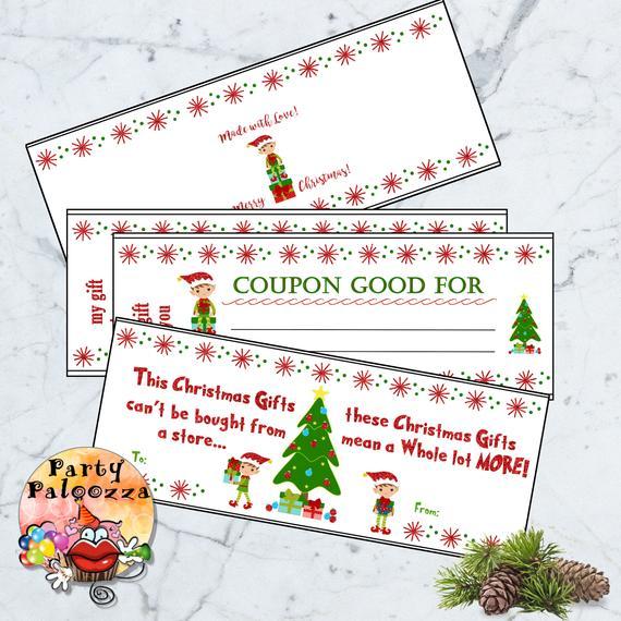 printable Christmas coupon book