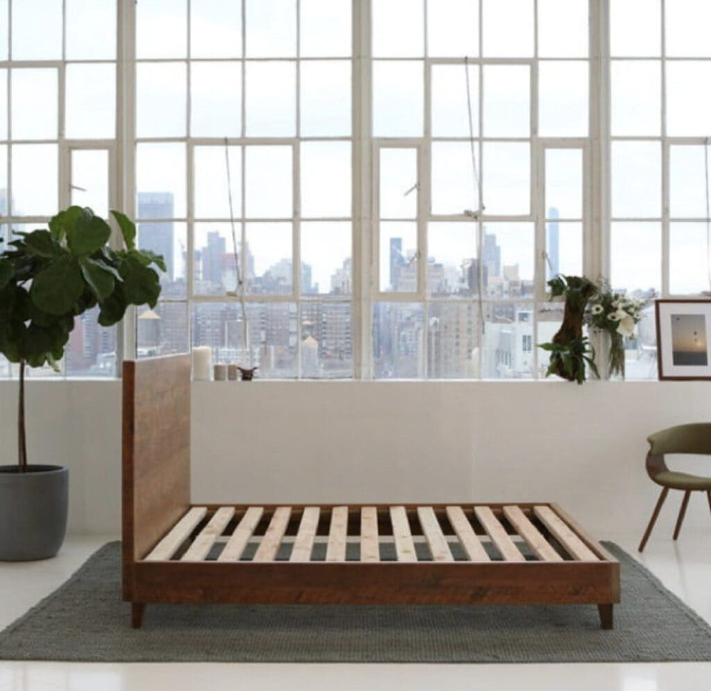 avocado green mattress sustainable wood bed frame