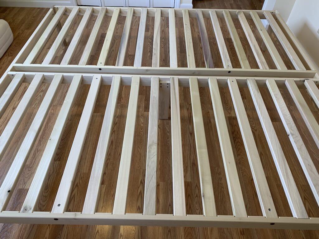 chemical free platform bed frame