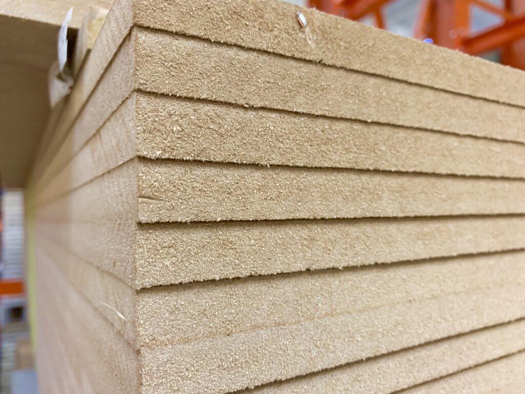 stack of MDF pressed wood