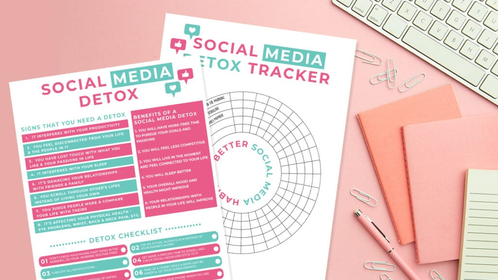 social media detox checklists