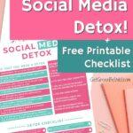 social media detox printable list