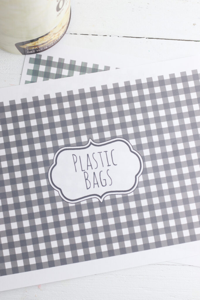 plastic bag container wrapper